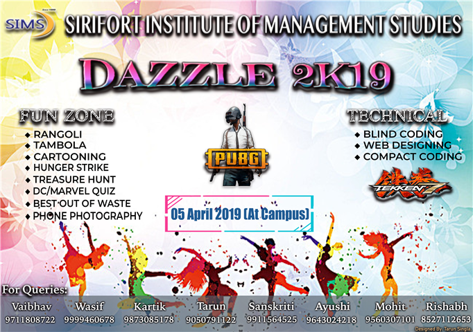DAZZLE 2K19 (Technical Fest)